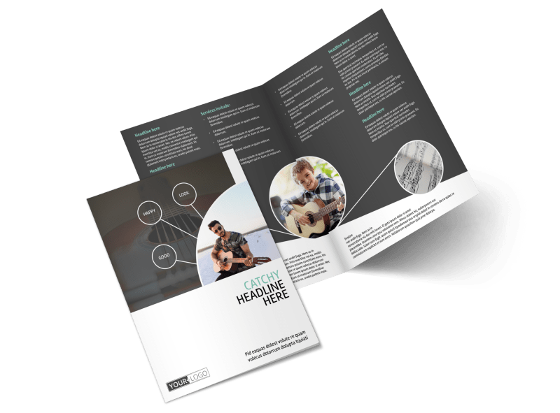 Getting Started Guitar Lessons Brochure Template Preview 1