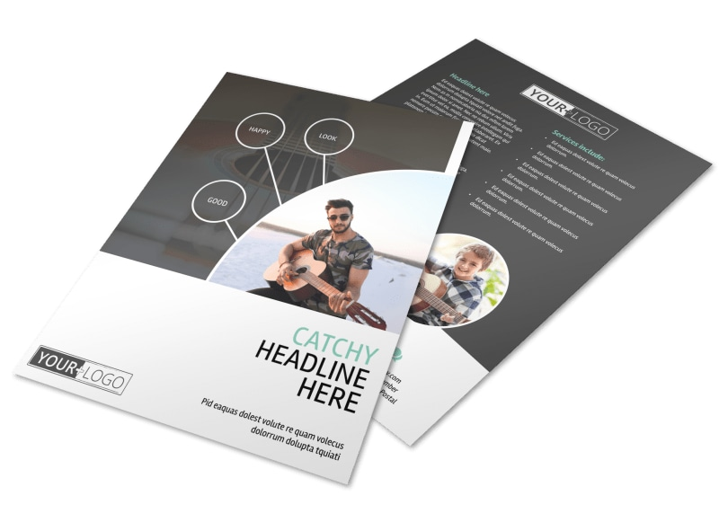 Getting Started Guitar Lessons Flyer Template