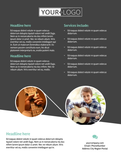 Getting Started Guitar Lessons Flyer Template Preview 2