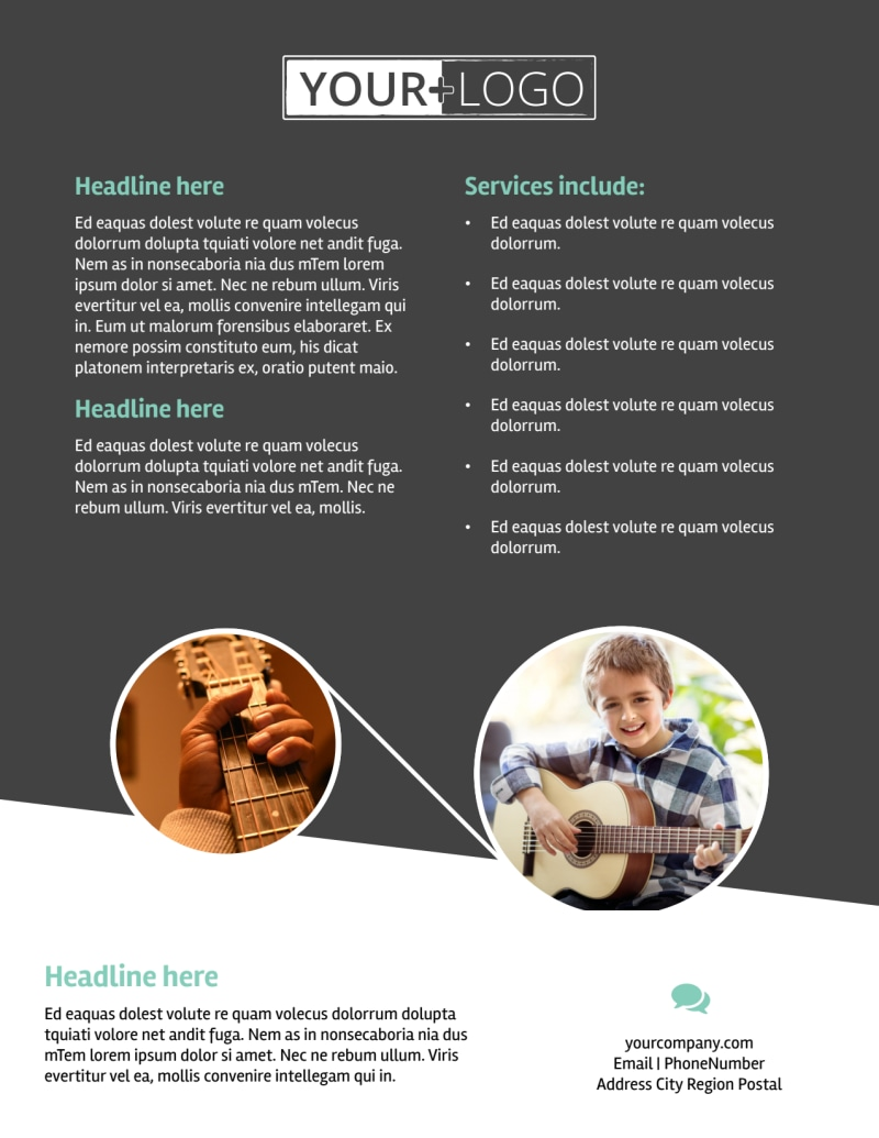 Getting Started Guitar Lessons Flyer Template Preview 3