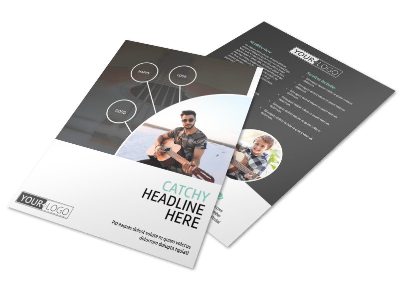 Getting Started Guitar Lessons Flyer Template Preview 1