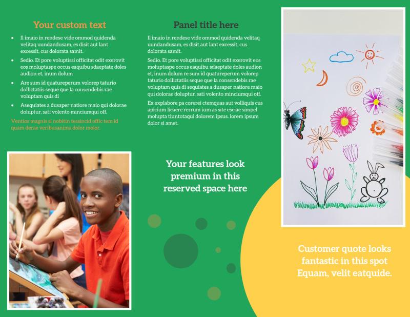 Art Classes Brochure Template Preview 3