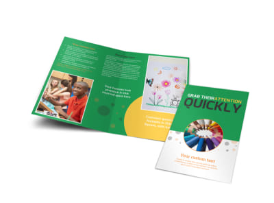 Art Classes Bi-Fold Brochure Template