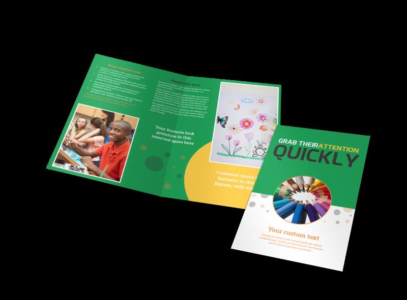 Art Classes Brochure Template Preview 1