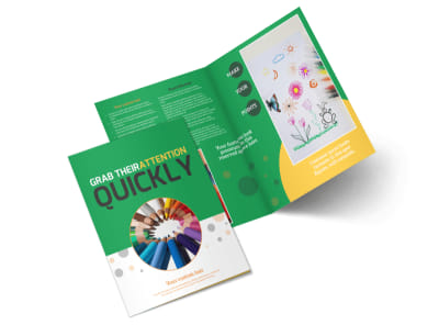 Art Classes Bi-Fold Brochure Template preview