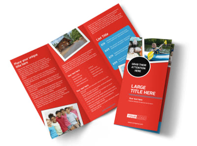 Summer Day Camp Tri-Fold Brochure Template preview