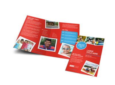 Summer Day Camp Bi-Fold Brochure Template