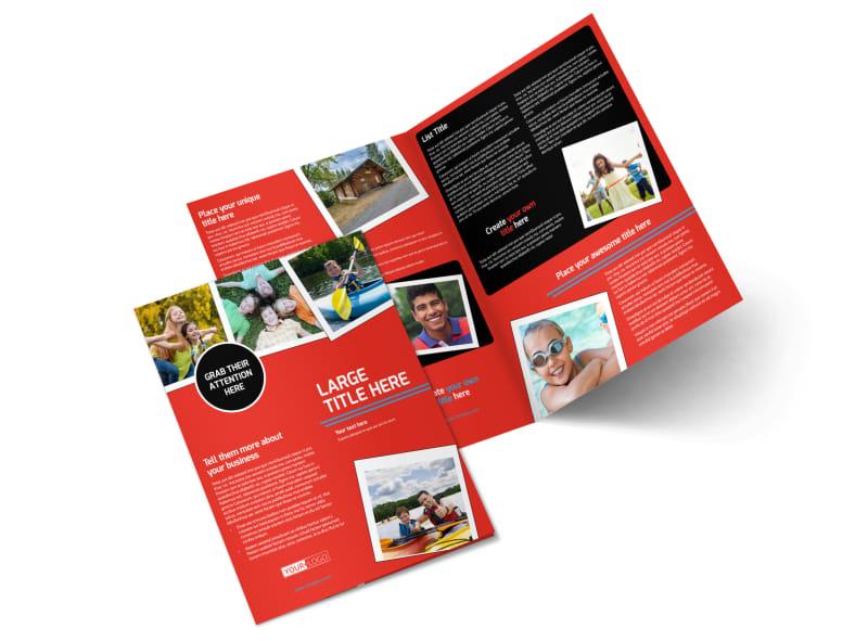 summer camp brochure template - summer day camp bi fold brochure template