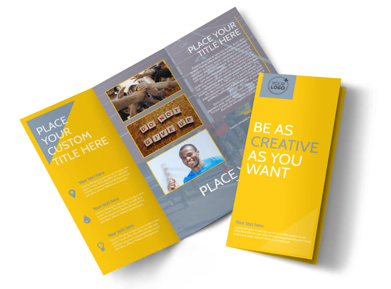 charity running event brochure template mycreativeshop
