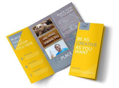 Charity Running Event Tri-Fold Brochure Template