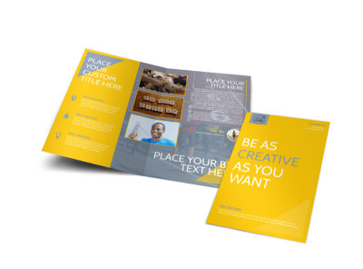 Charity Running Event Bi-Fold Brochure Template