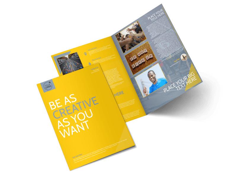 Charity Running Event Bi-Fold Brochure Template