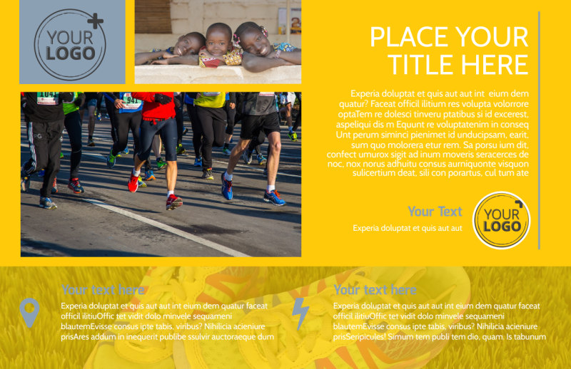 Charity Running Event Postcard Template Preview 2
