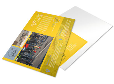 Charity Running Event Postcard Template preview