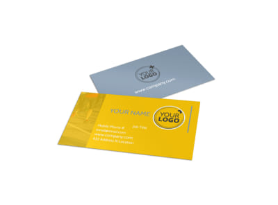 Charity Running Event Business Card Template