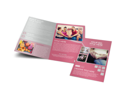 Pregnancy Assistance Center Bi-Fold Brochure Template preview