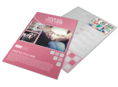 Pregnancy Assistance Center Flyer Template preview