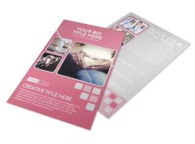 Pregnancy Assistance Center Flyer Template