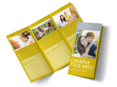 Adoption & Family Services Tri-Fold Brochure Template preview