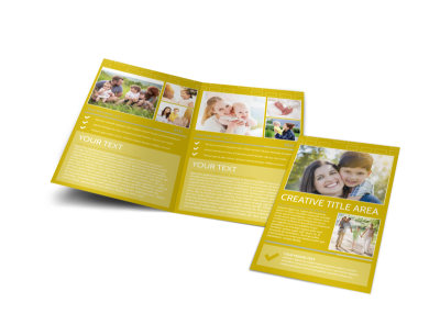Adoption & Family Services Bi-Fold Brochure Template preview