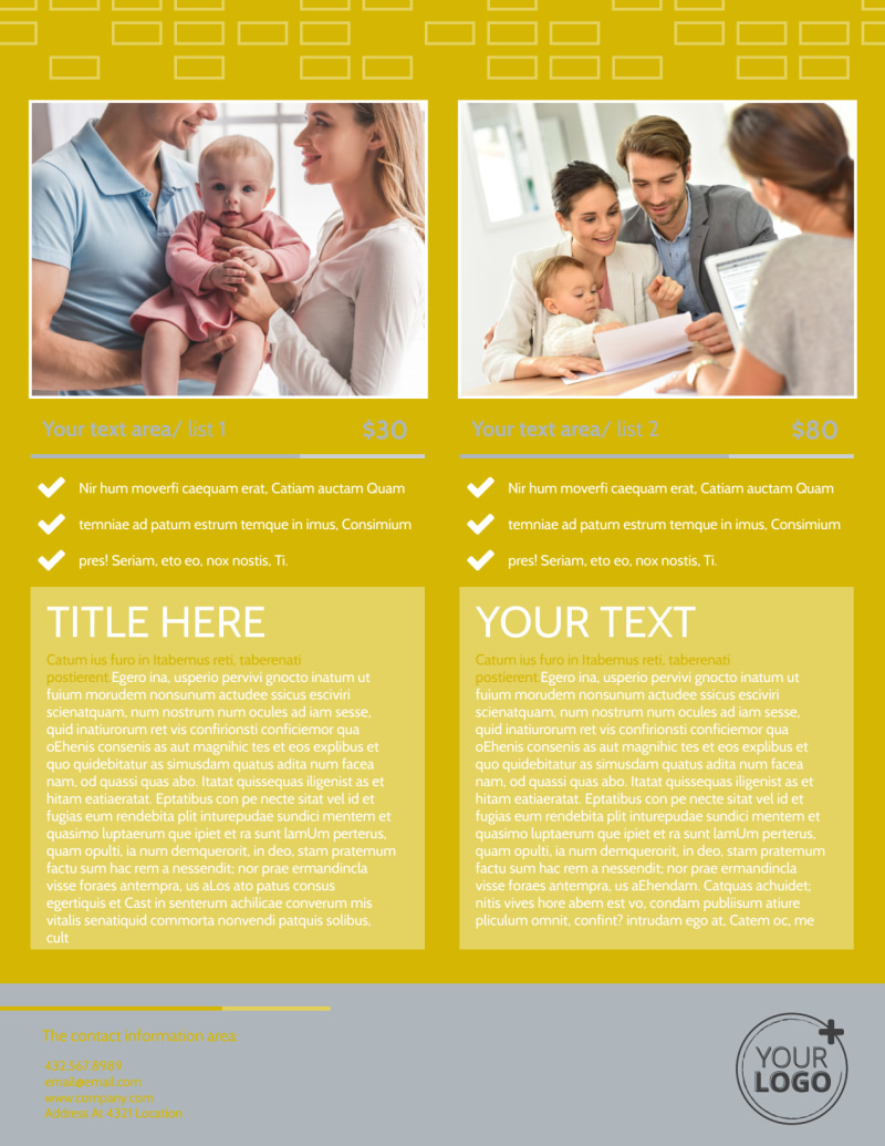 Adoption & Family Services Flyer Template Preview 3