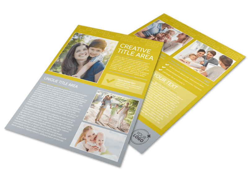 Adoption & Family Services Flyer Template Preview 1
