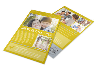 Adoption & Family Services Flyer Template