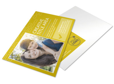 Adoption & Family Services Postcard Template preview