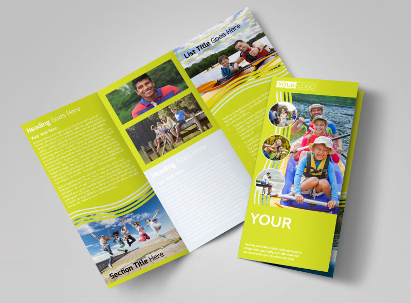 Lakeside Summer Camp Tri-Fold Brochure Template