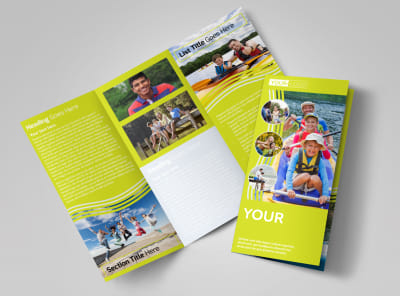 Lakeside Summer Camp Tri-Fold Brochure Template preview