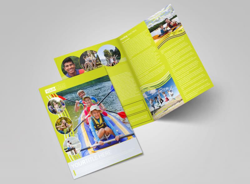 Lakeside Summer Camp Bi-Fold Brochure Template