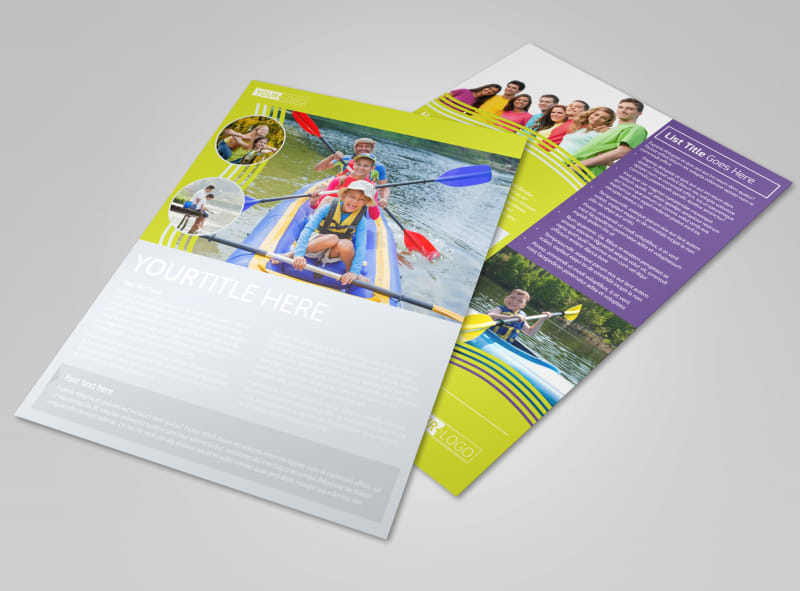 Lakeside Summer Camp Flyer Template Preview 4