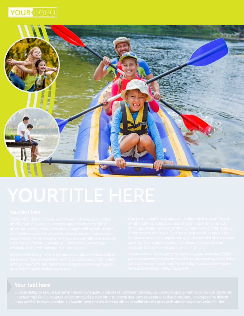 Lakeside Summer Camp Flyer Template Preview 2