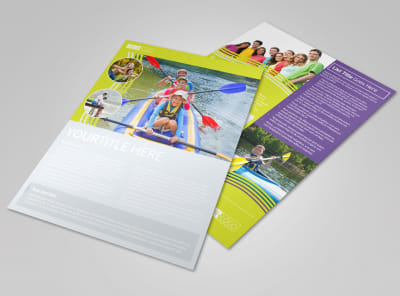 Lakeside Summer Camp Flyer Template