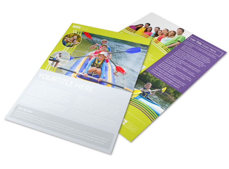 Lakeside Summer Camp Flyer Template Preview 1