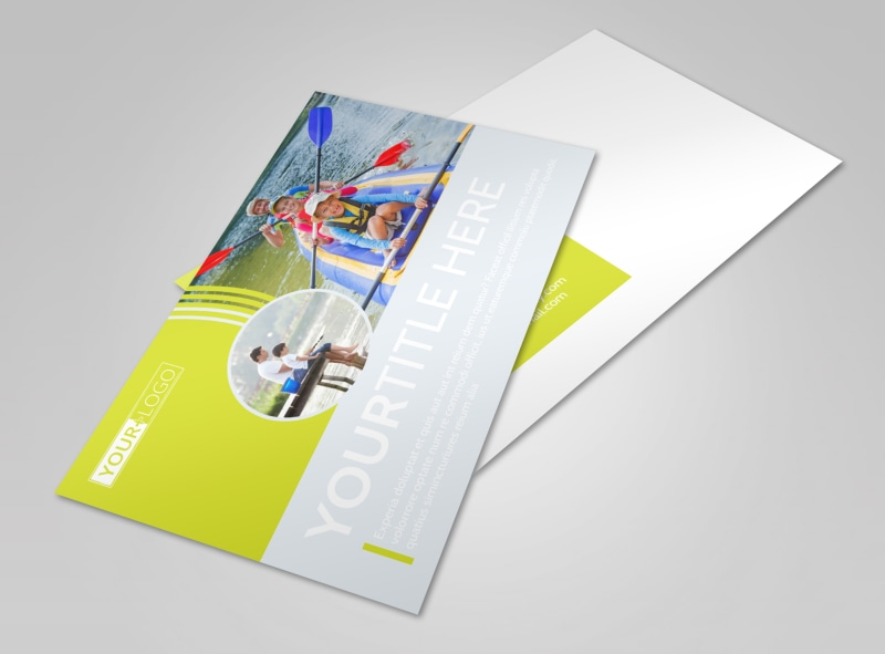 Lakeside Summer Camp Postcard Template Preview 4