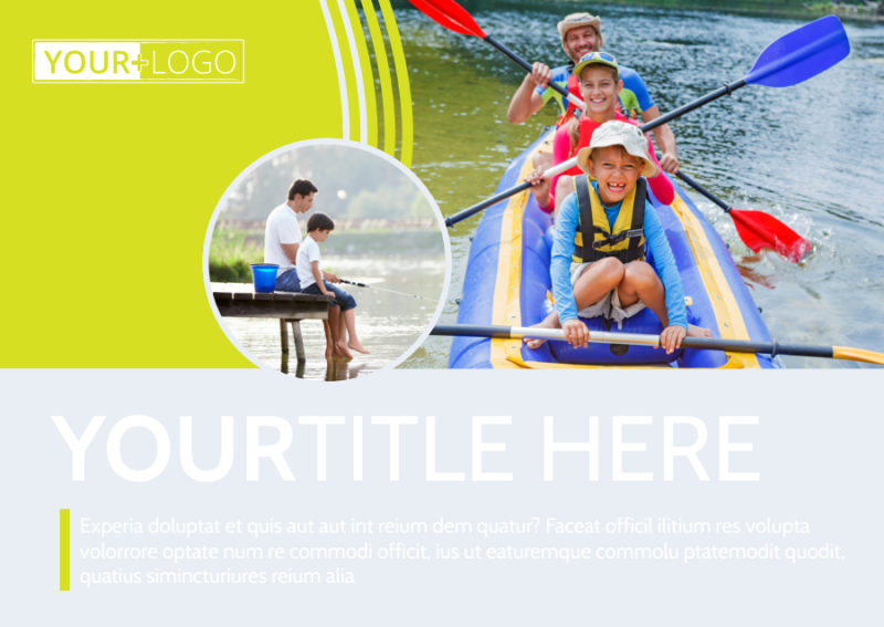 Lakeside Summer Camp Postcard Template Preview 2