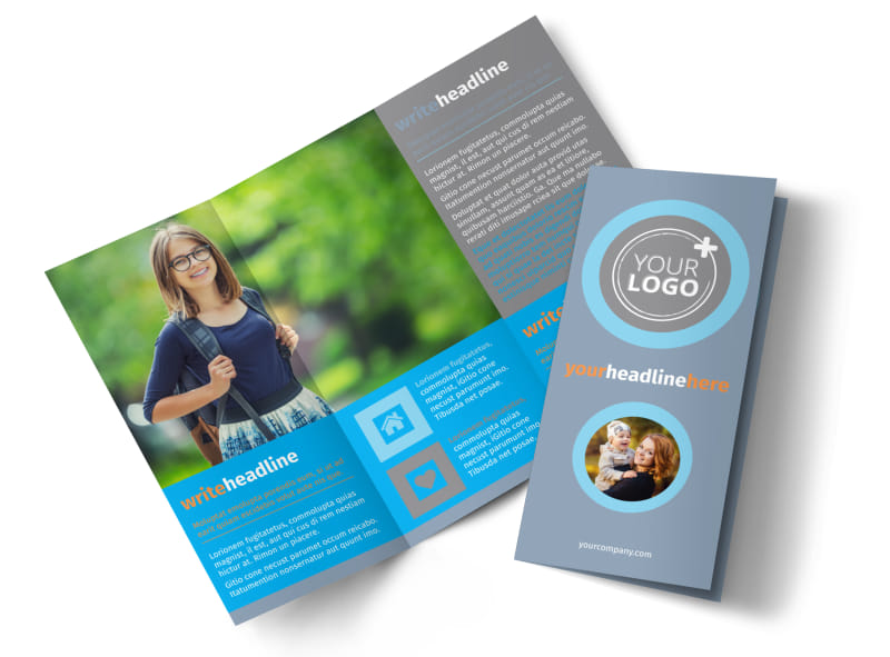 Child Placing Adoption Agency Tri-Fold Brochure Template