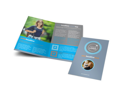 Child Placing Adoption Agency Bi-Fold Brochure Template
