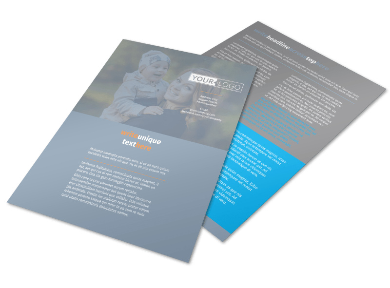 Child Placing Adoption Agency Flyer Template