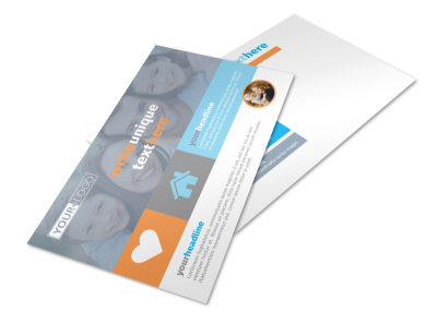 Child Placing Adoption Agency Postcard Template preview