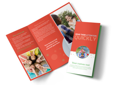 Awesome Summer Camp Tri-Fold Brochure Template preview