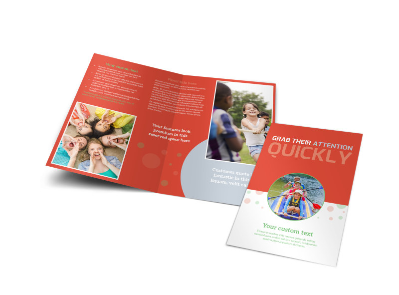 Awesome Summer Camp Bi-Fold Brochure Template