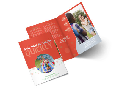 Awesome Summer Camp Bi-Fold Brochure Template preview
