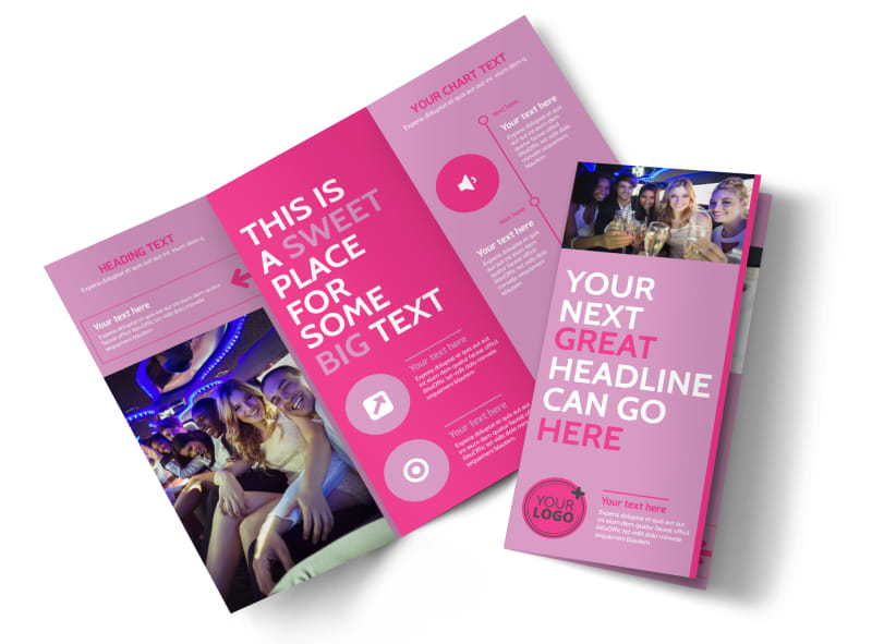 All Night Party Bus Tri-Fold Brochure Template