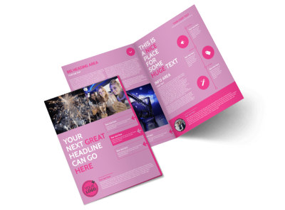 All Night Party Bus Bi-Fold Brochure Template