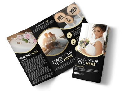 Memories Wedding Photography Tri-Fold Brochure Template preview