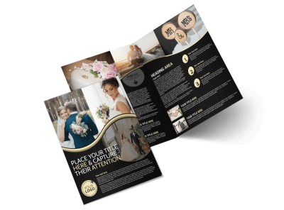 Memories Wedding Photography Bi-Fold Brochure Template preview