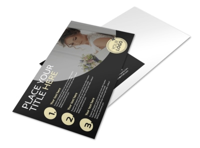 Memories Wedding Photography Postcard Template