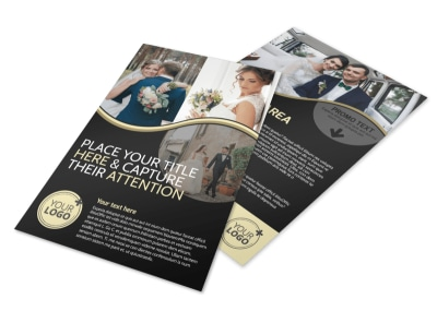Memories Wedding Photography Flyer Template preview